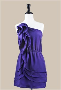 Image of Ruffle Cocktail Dress <font color = blue>(3 Left!)</font>