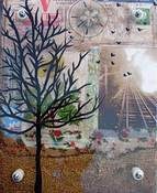 Image of Happy Journey Tree- Plexi Glass Painting