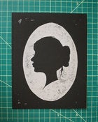 "Image of ""Lady"" Linoleum Print"