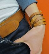 Image of Ochre Cuff/Skinny Belt