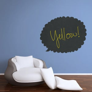 Image of CHALKBOARD TALK BUBBLE DECAL