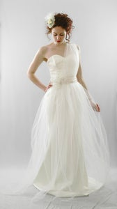 Image of Joslin – Soft Tulle Asymmetric Gown