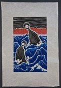 Image of Woodblock Print: Alex Diamond | The Tokuzo Twins (Into The Night WP#02)