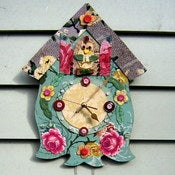 "Image of ""Time will Tell"" Lino Cuckoo Clock"