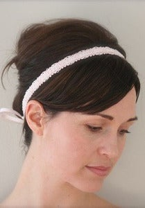 Image of Velvet satin headband