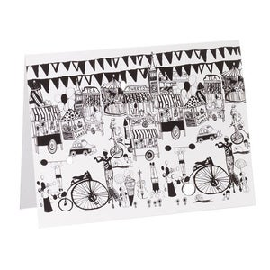 Image of Street Party – Large (Black & White)