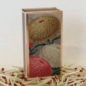 Image of Vintage French Seed Packet Floral Matchbox