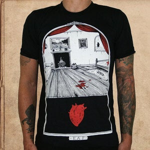 Image of Tell Tale Heart - discharge inks - unisex - restocked