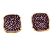Image of Chelsea Stud Earrings - Shagreen 