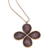 Image of Shagreen Flower Necklace  *As seen in Health Magazine