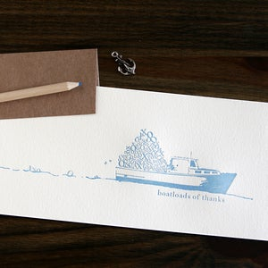 Image of Boatloads Thank-you notes