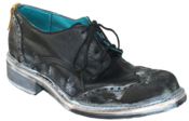 Image of No.0021 INTERCHANGE wingtip shoe Black