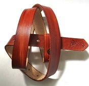 Image of Narrow 1&quot; BRITISH TAN belt