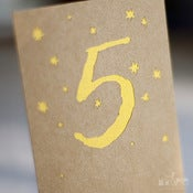 Image of Gilt Star Table Numbers