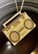 Image of Wooden Boombox
