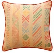 "Image of Tangier Natural Multi Double Sided 16"" Pillow"