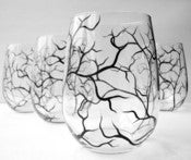 Image of Winter Stemless Wine Glasses-Set of 2
