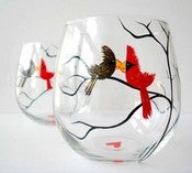 Love Birds Stemless Wine Glasses-Set of 2