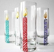 Happy Birthday Candle Shot Glasses