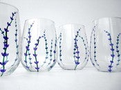 Image of Lavender Stemless Wine Glasses-Set of 2
