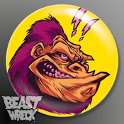 "Image of ""SHREWD APE"" 1.5"" button"