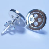 Image of Silver Button Studs