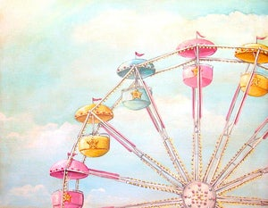 Image of Ferris Wheel print matted ready to frame M