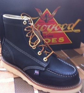 "Image of Thorogood 6"" Moc Toe Blk"
