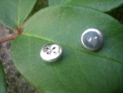 Image of cute as a button earrings - back in stock!