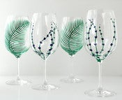 Image of Garden Party Wine Glasses-4 Piece Collection