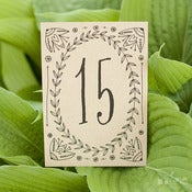 Image of Leaf and Vine Table Numbers