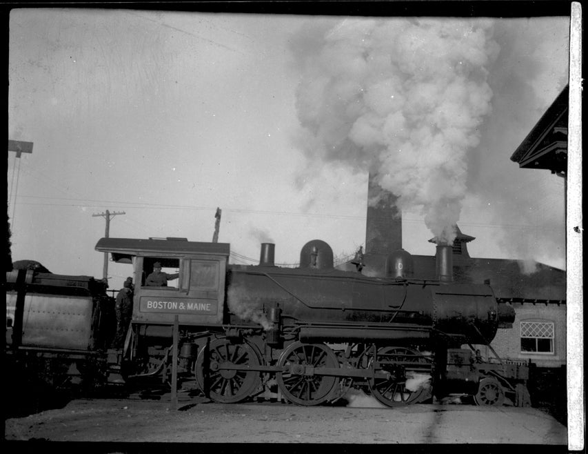 Image of Steam Engine Train: Boston & Maine