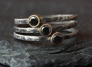 Image of Black Diamond Stacking Ring