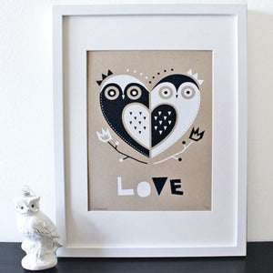 Image of Sass &amp; Peril Owl Love Screenprint