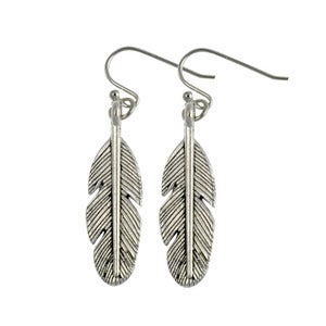 Image of Pixie. Tibetan Feather Earrings