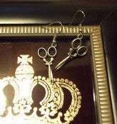 "Image of Scissors ""drop earrings"""