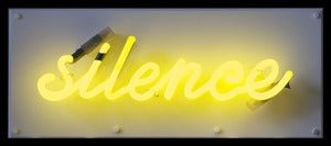 Image of 'Silence Is Golden' Neon Light