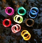 Image of Finger Ring Replacements (8 colors-2 of ea. for 16 total)