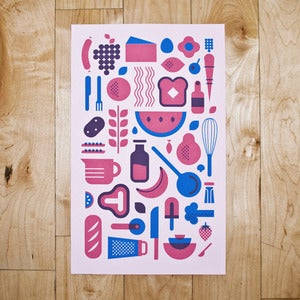 Image of cookin' print