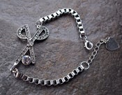 Image of Scissors Austrian Crystal Gem BRACELET