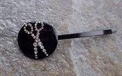 Image of Scissors Austrian Crystal Gem Hair Pin