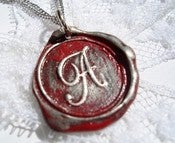 Image of Red Wax Seal Pendant Necklace by Ritzy Misfit