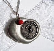 Image of Bold and Beautiful Classic Wax Seal Pendant Necklace