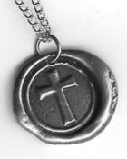 Image of Cross Wax Seal Pendant by Ritzy Misfit