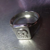 Image of Silver Skull Insignia Ring