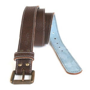 Image of Leather Belts With Coloured Lining