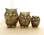 Image of Vintage Brass Owls