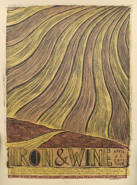 Image of Iron and Wine Tour Poster