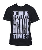 Image of Grave Times Word Print T Shirt