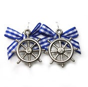 Image of A Sailor's Life For Me Earings (Blue)